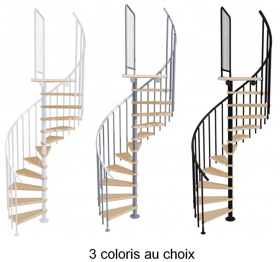 Escalier En Colimacon En Acier Hetre Massif Atrium Novo O 120 Cm
