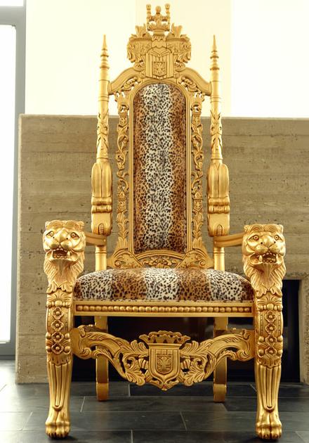 Trne Royal Dor 180 Cm Velours Imitation Fourrure De