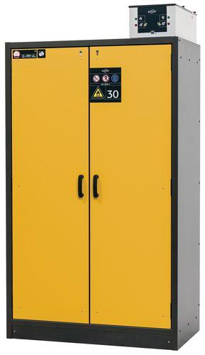 armoire de securite l 1200 avec 3 etageres coupe feu 30 min jaune