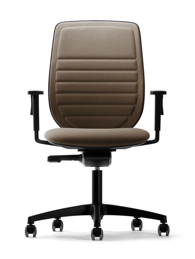 fauteuil rembourre marron