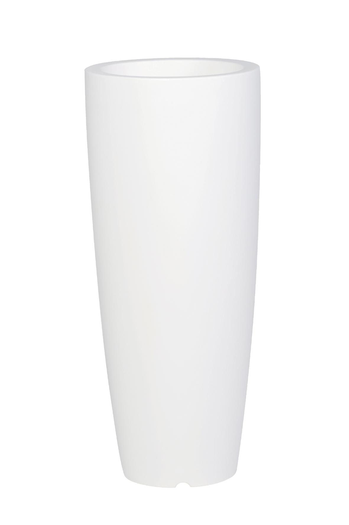 pot de fleur design coloris blanc