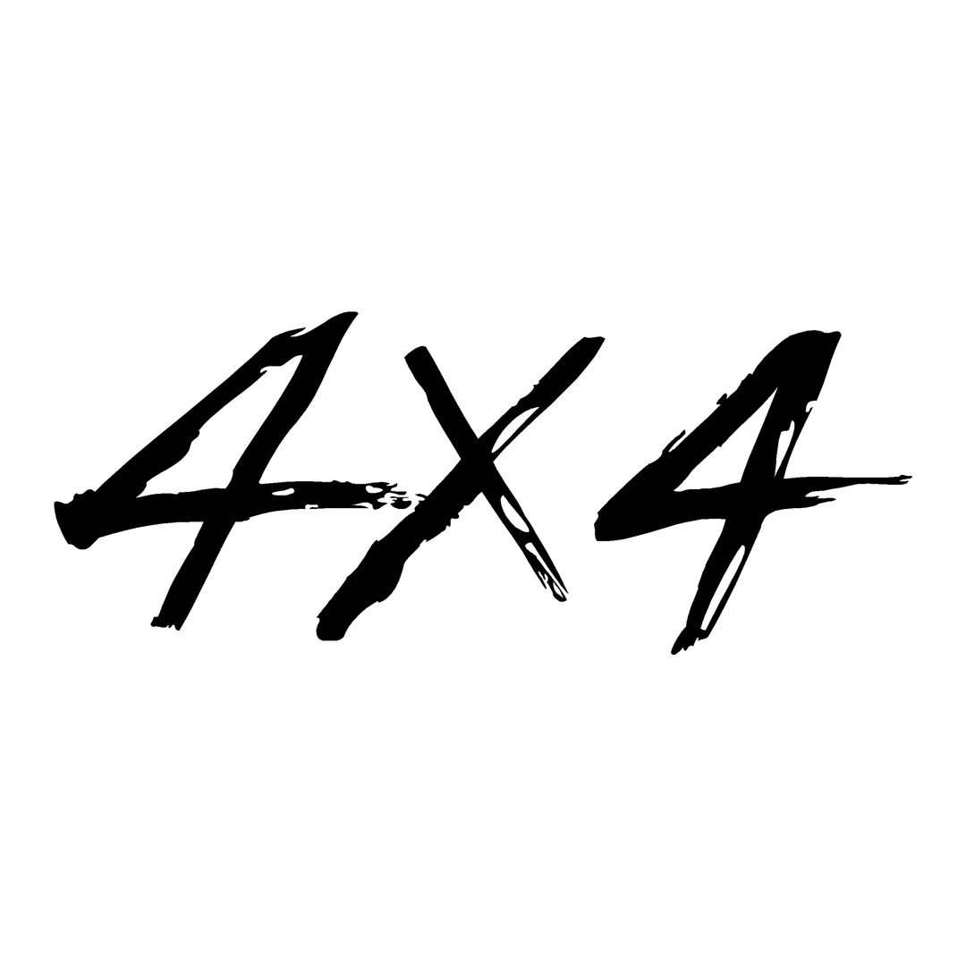 Sticker Logo 4x4 Ref 69