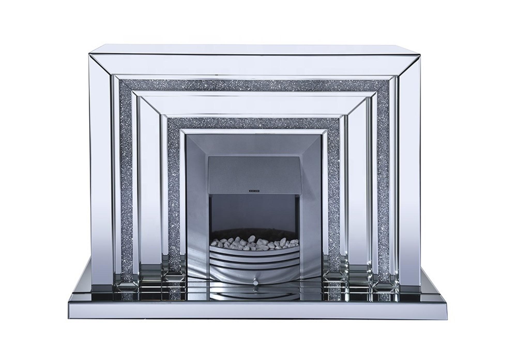 cheminee electrique design miroir ava