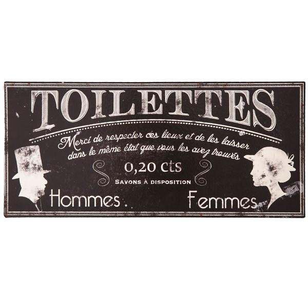 plaque toilettes contravention