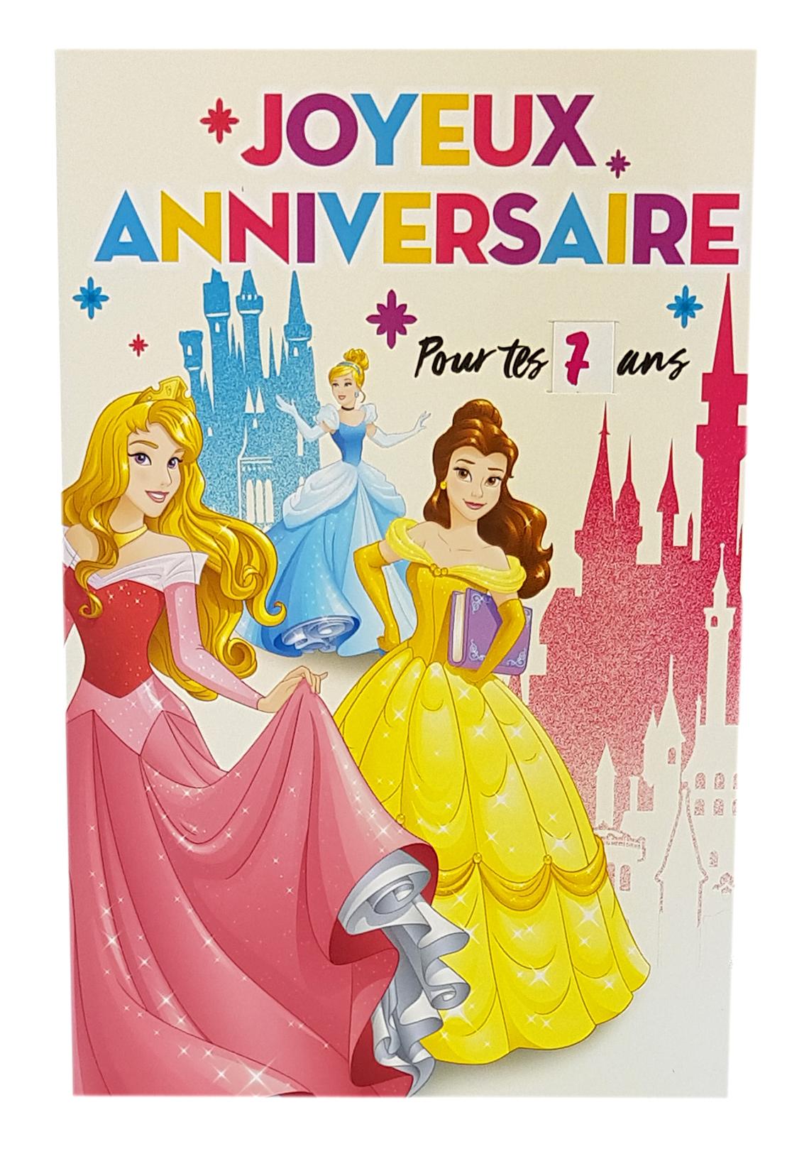 carte joyeux anniversaire princesses disney ref 113