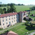 vue aérienne des paroles du château de barbarin aujourd'hui