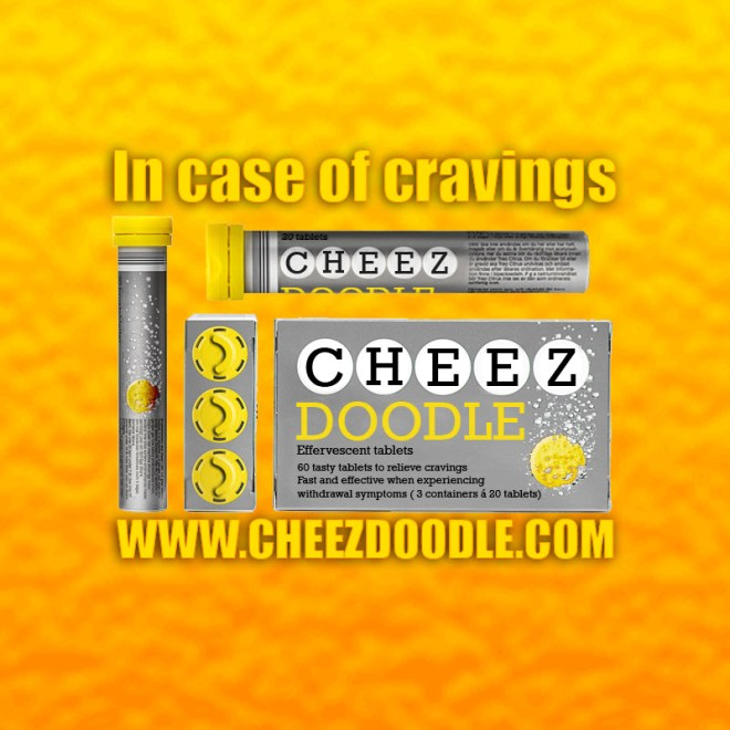 Cheez doodle effervescent tablets in case of cravings