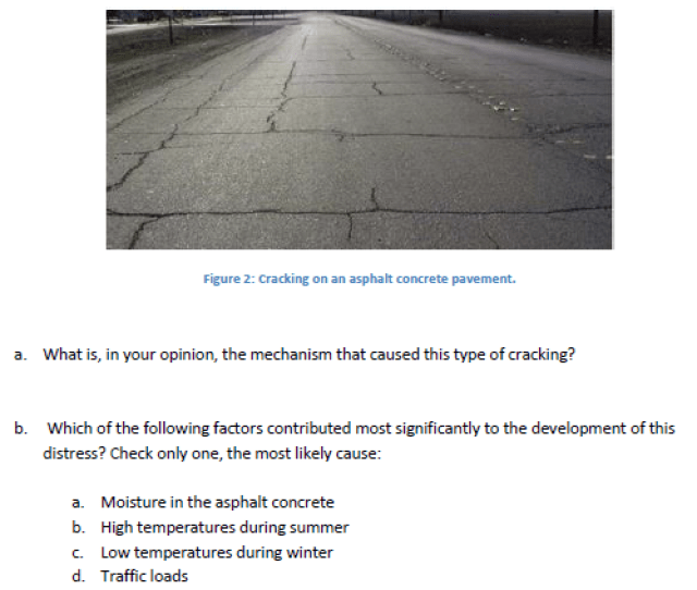 An Asphalt Concrete Pavement Has Suffered Significant Cracking As Shown In Figure 2