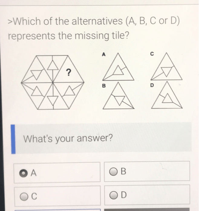 solved which of the alternatives a