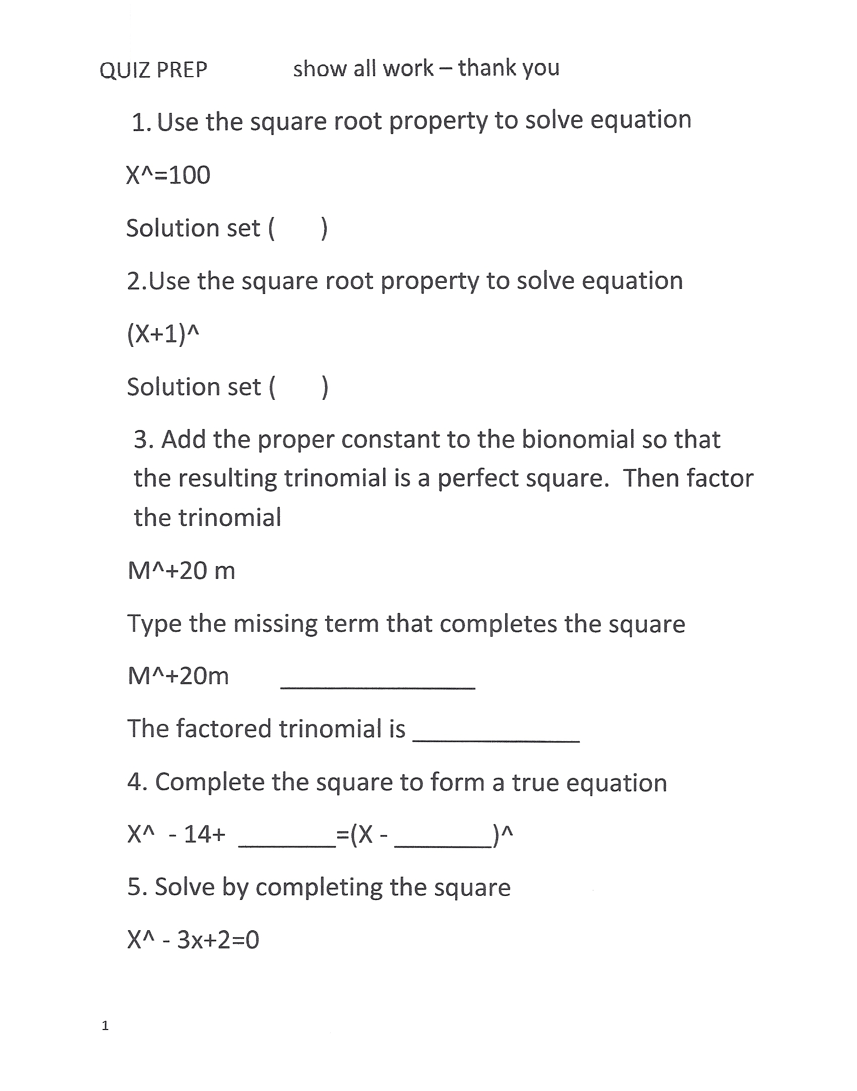 Use The Square Root Property To Solve Equation