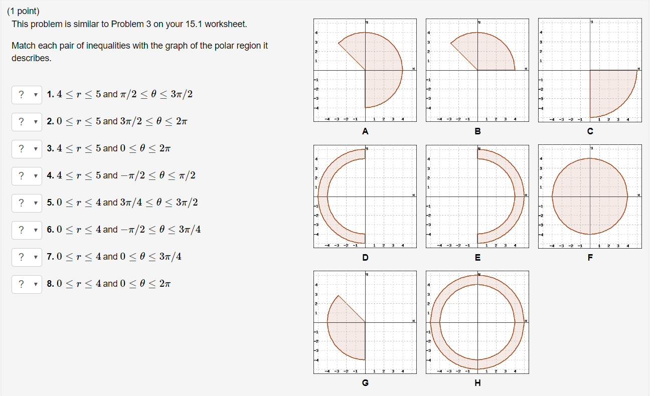 Matching Inequalities With Graphs Worksheet