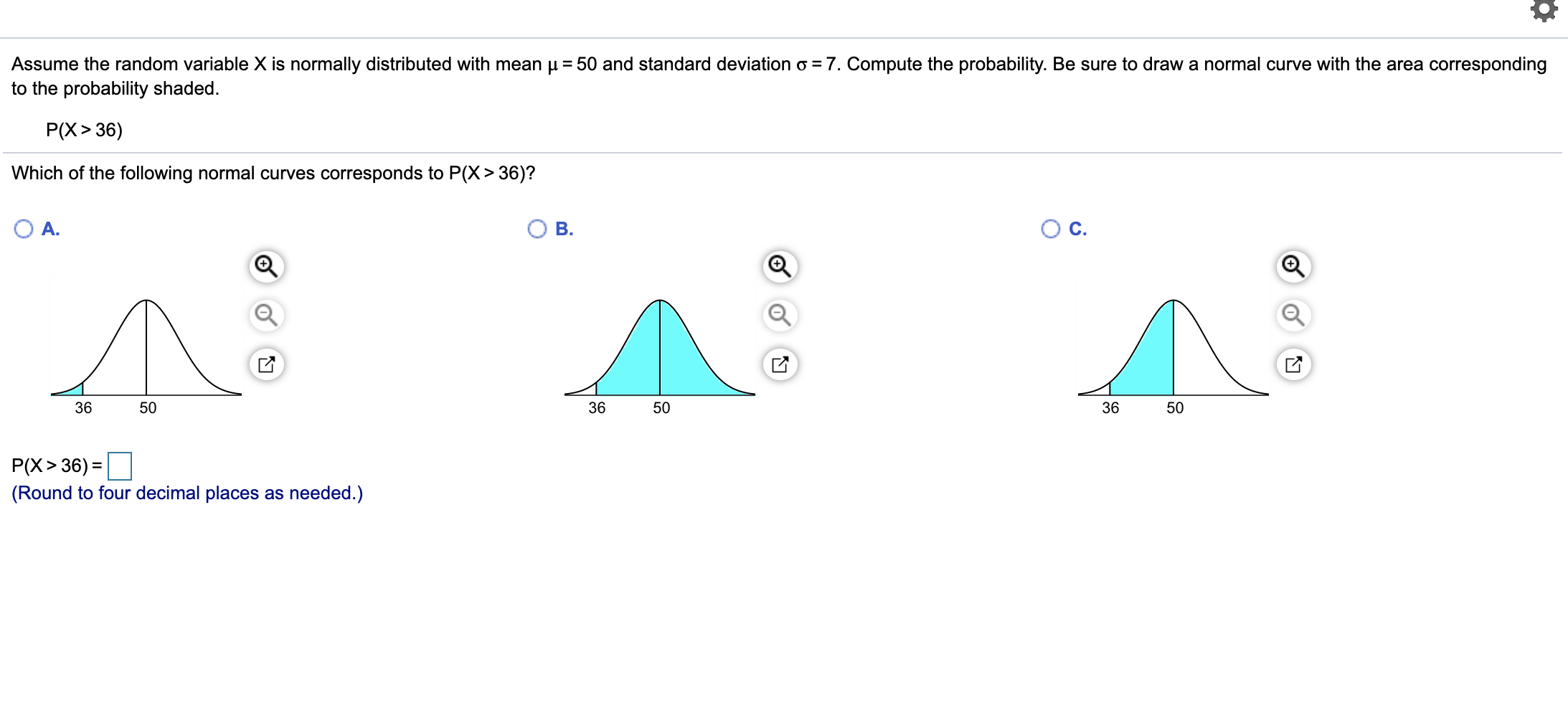 Solved Draw A Normal Curve With U 58 And O 17 Label The
