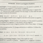 Solved Intergers Positive And Negative Numbers Adding I Chegg Com