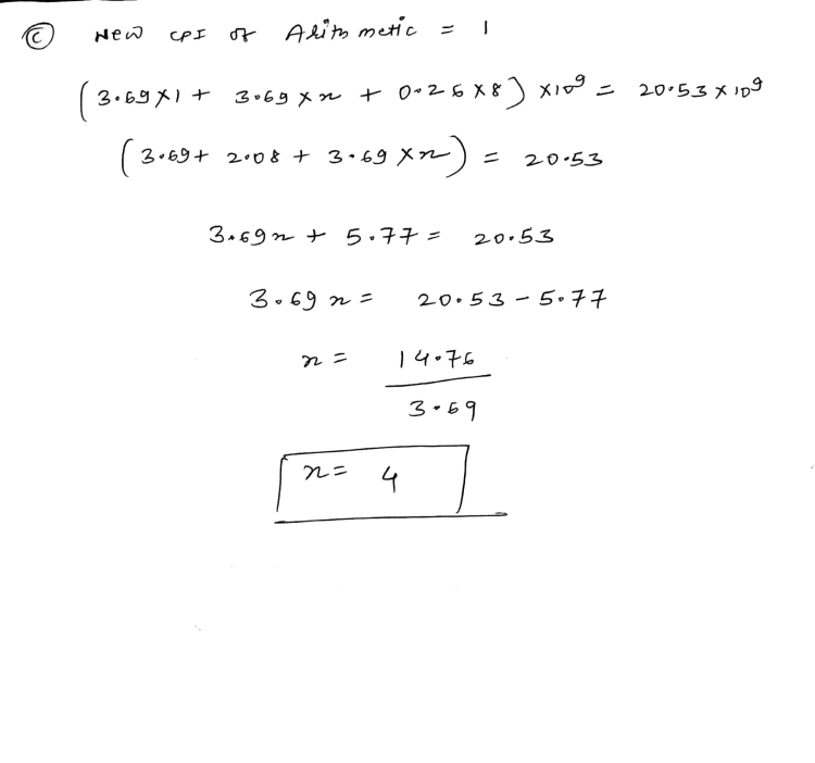 © new cp I of Arithmetic = 1 (3.69X1+ 3069 mm + 026x8 ) xing - 20.53 Xing ( 3+69+ 20 + + 3+69 X-) = 20:53 3.69n+ 5.77= 20053