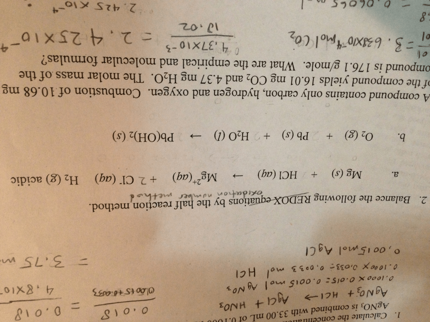Balance The Following Oxidation Number Method By