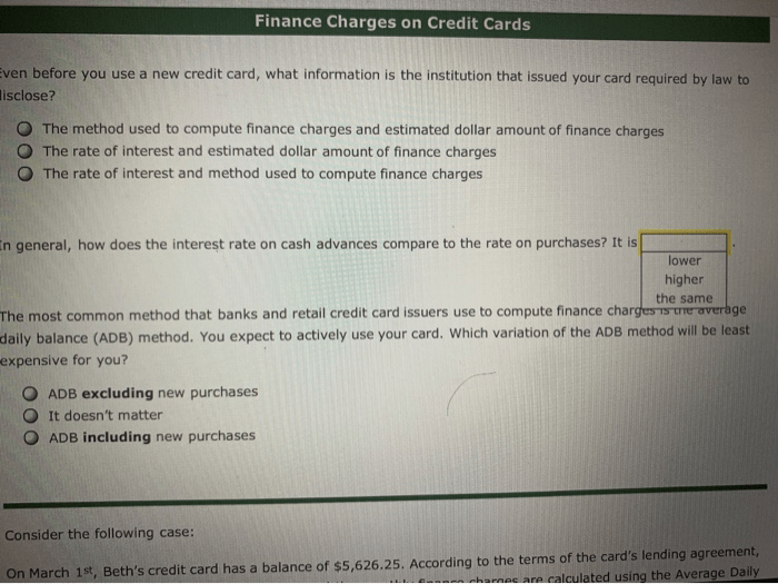 Fingerhut credit accounts are issued by webbank, member fdic. Solved: Finance Charges On Credit Cards Ven Before You Use...   Chegg.com