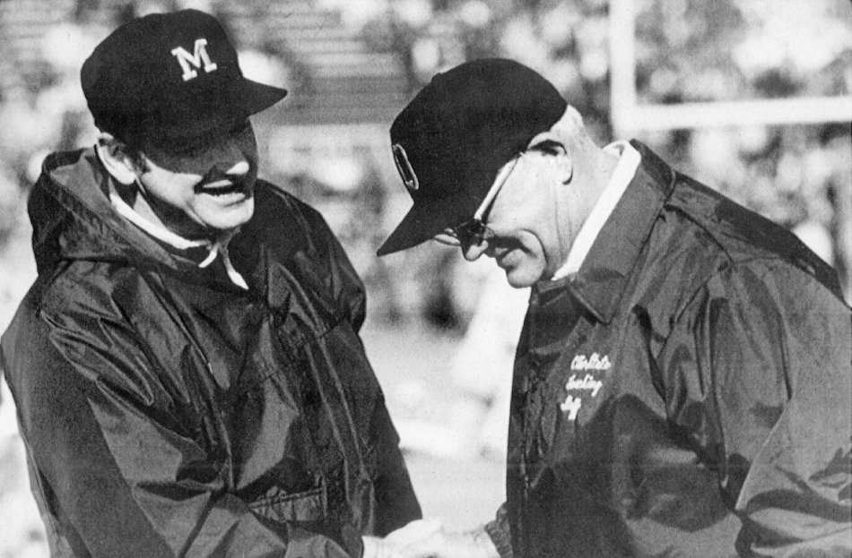 Image result for bo schembechler woody hayes