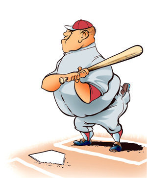 Image result for fat baseball batter cartoon
