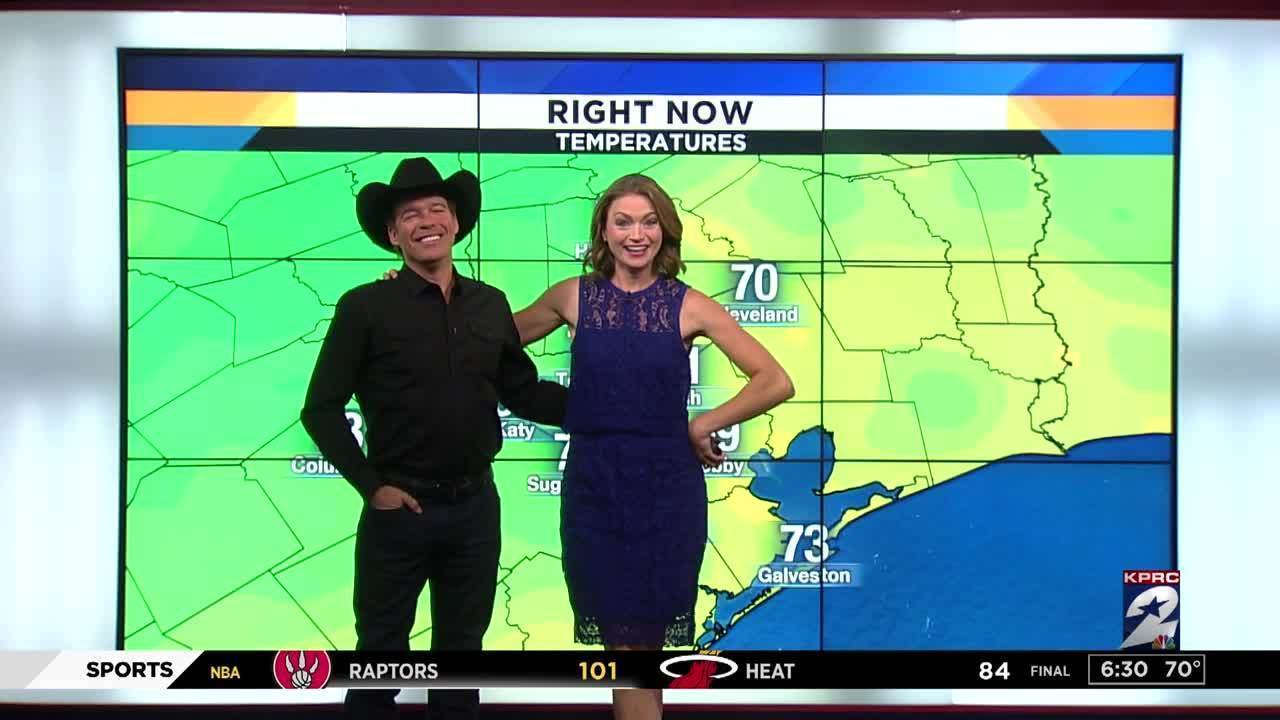 Clay Walker Joins Britta Merwin For A Colorful Friday Forecast
