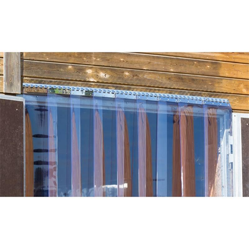 barre a crochets en inox pour fixer les rideaux a lamelles en pvc pour l etable 200 cm