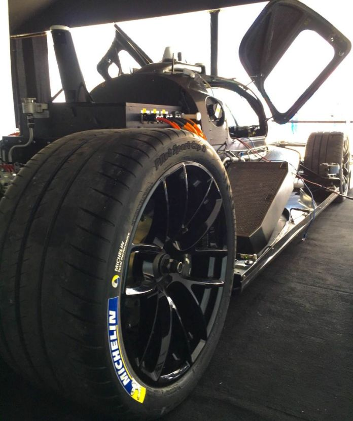 The battery-powered prototype can reach speeds of 215 mph (350 kph), according to Roborace.
