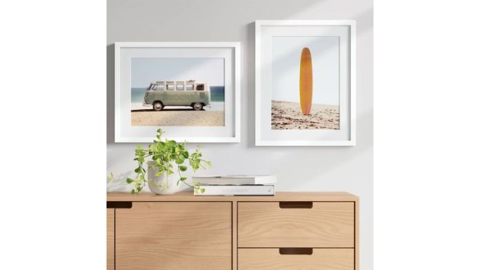 Project 62 Van and Surfboard Framed Wall Art