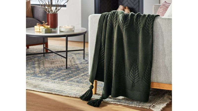 Threshold Designed With Studio McGee Knitted Tree Throw Blanket