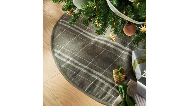 Threshold Designed With Studio McGee Green Plaid Tree Skirt