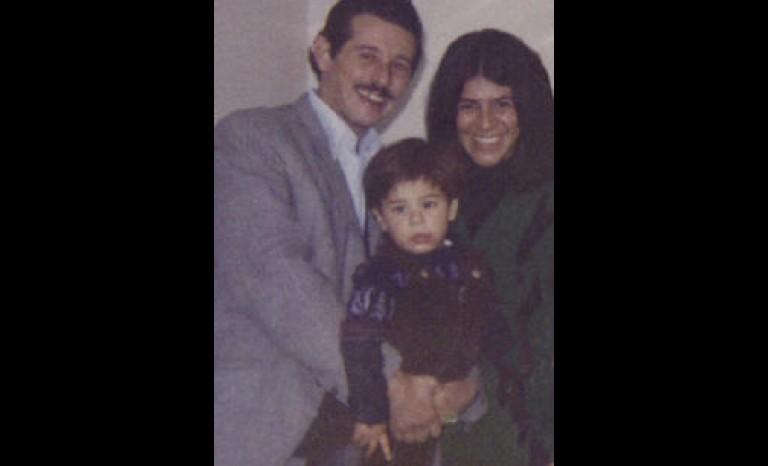 Ernesto Lejderman y sus padres