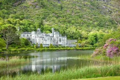 Image may contain: Nature, Outdoors, Water, Castle, Architecture, Building, Scenery, Land, Pond, Fort, and Landscape