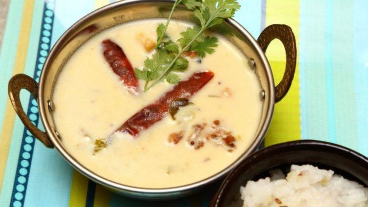 Vegan Gujarati Kadhi - traditional dairy-based recipes from around India for vegan food