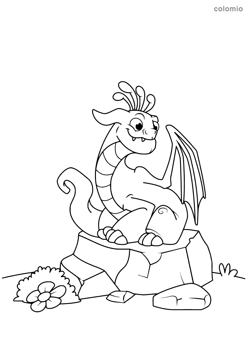 Dragons Coloring Pages Free Printable Dragon Coloring Sheets