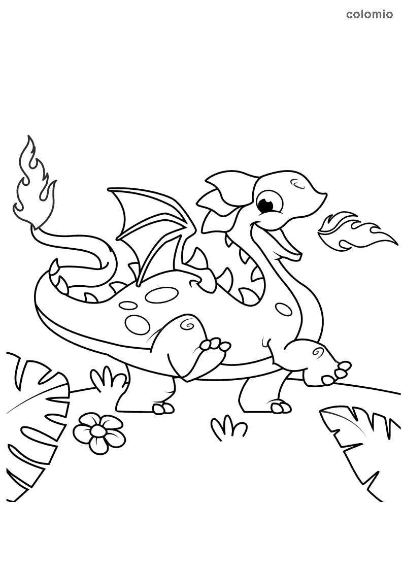 Dragons Coloring Pages Free Printable Dragon Coloring Sheets