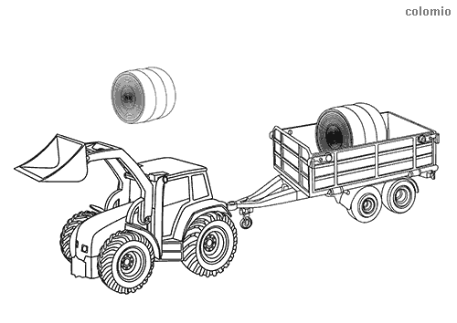 Tractors Coloring Pages Free Printable Tractor Coloring Sheets