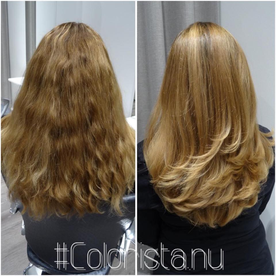 Amazing hair #blonde #blondehair #highlights #olaplex #mastey #oribe #coloursbyjennyhansson #beforeandafter #haircolor #hårfärg #hairstyle