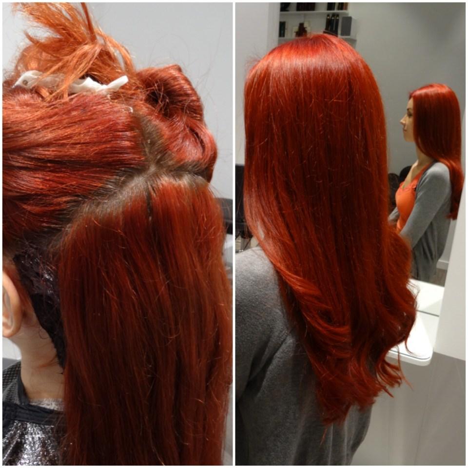 Michaelas lysande röda hår...