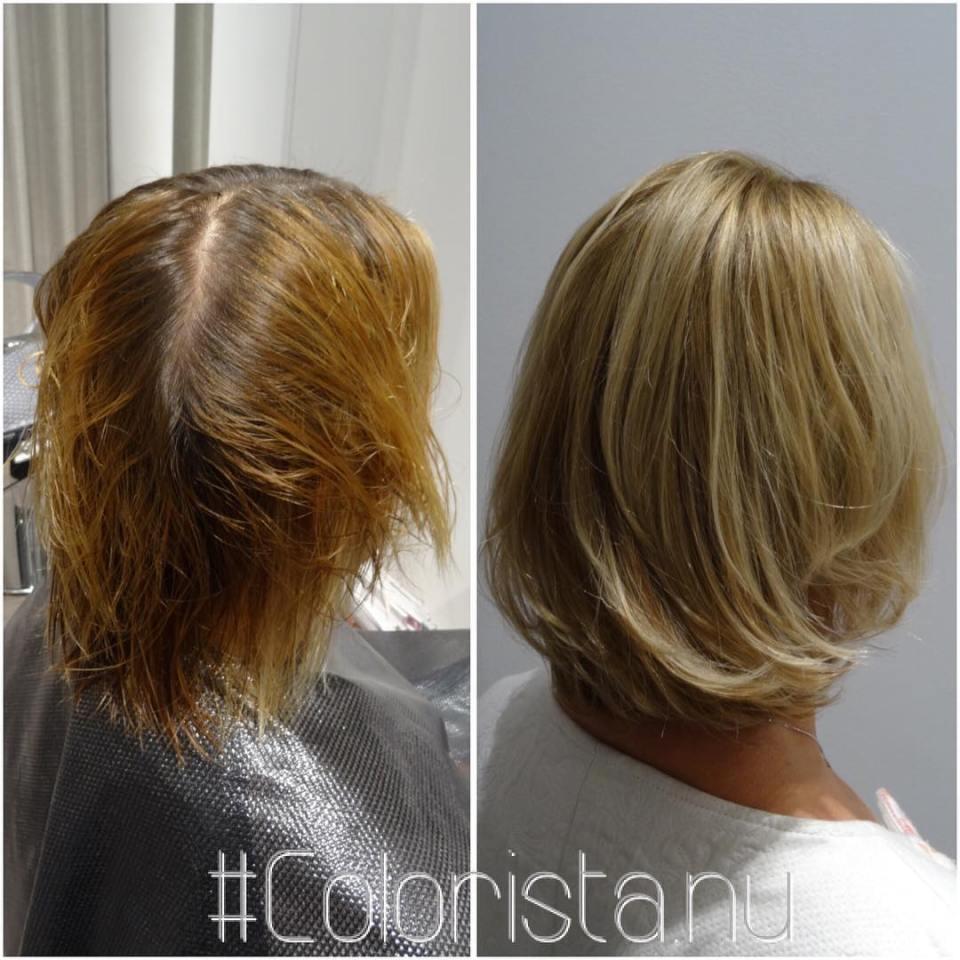 ✨A better blonde... #coloursbyjennyhansson #blonde #blondin #highlights #masteycolor #mastey #beforeandafter #nofilter #frisör #hårfärg #haircolor #olaplex #oribe