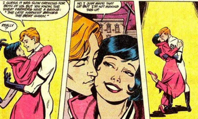 Elongated Man and Sue Dibny Romance