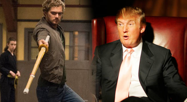 Finn Jones and Donald Trump