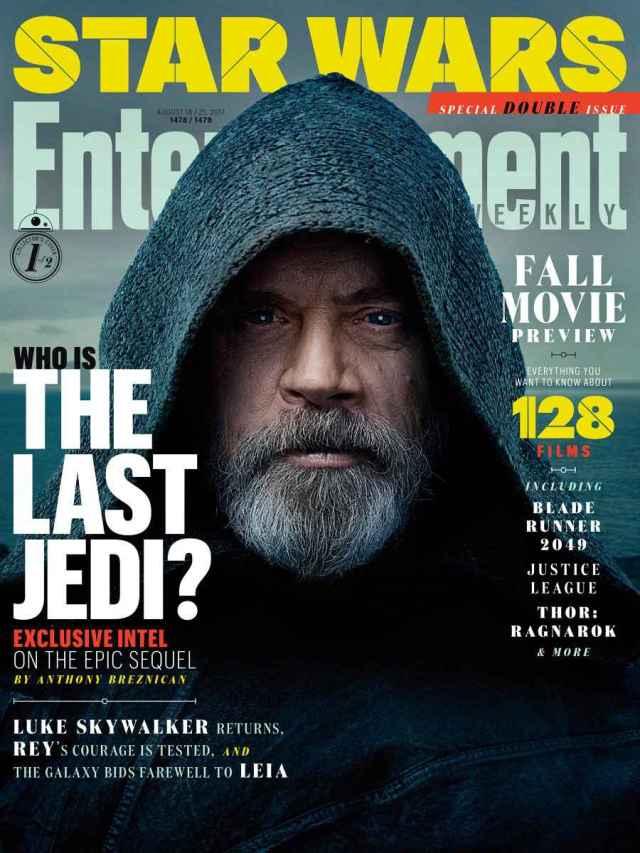 star wars the last jedi ew cover luke skywalker