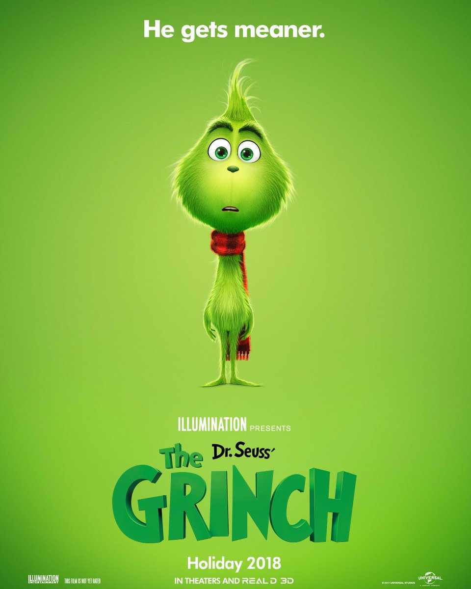 the poster for the 2018 Grinch movie
