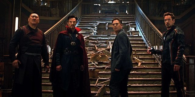 Image result for infinity war iron man dr strange