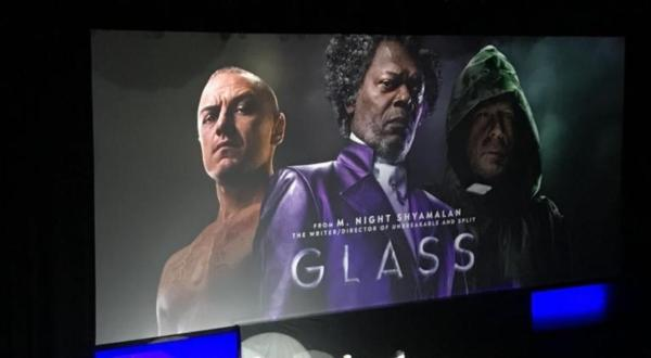Glass trailer door M. Night Shyamalan
