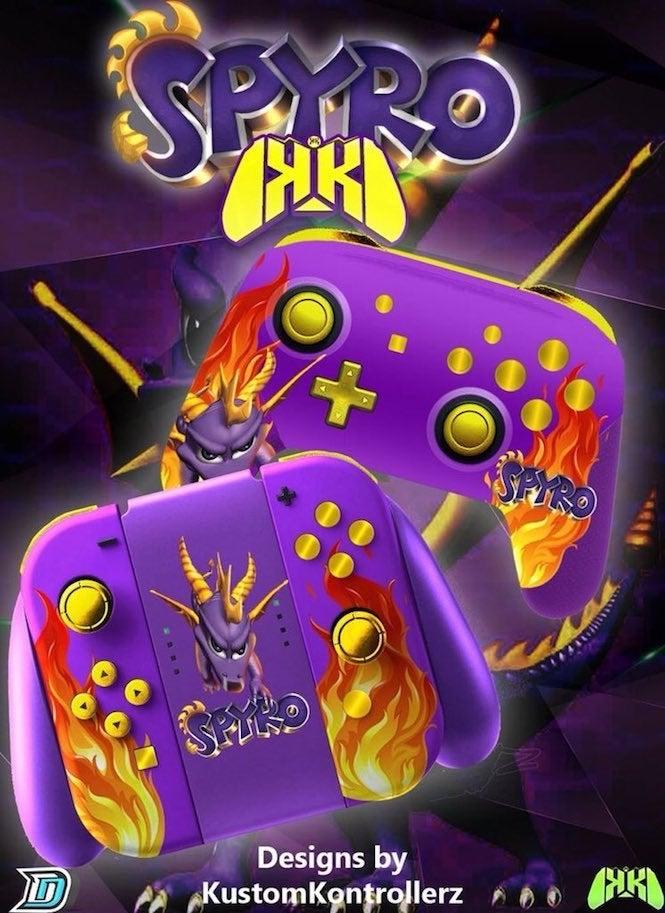 Kustom Kontrollerz Introduced Spyro The Dragon Controllers