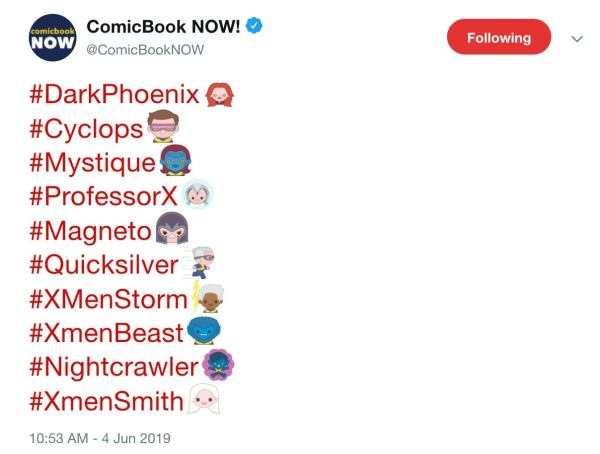 X-Men: Dark Phoenix Emoji Released on Twitter