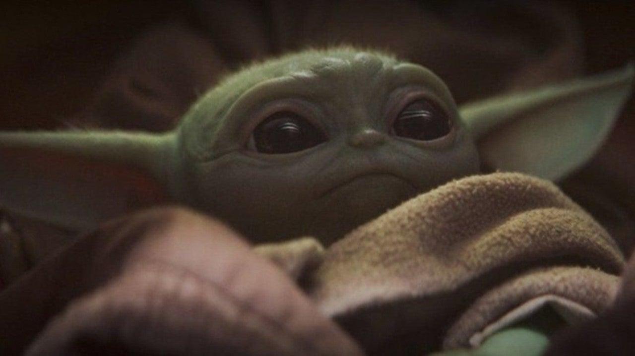 Baby Yoda on the Mandalorian