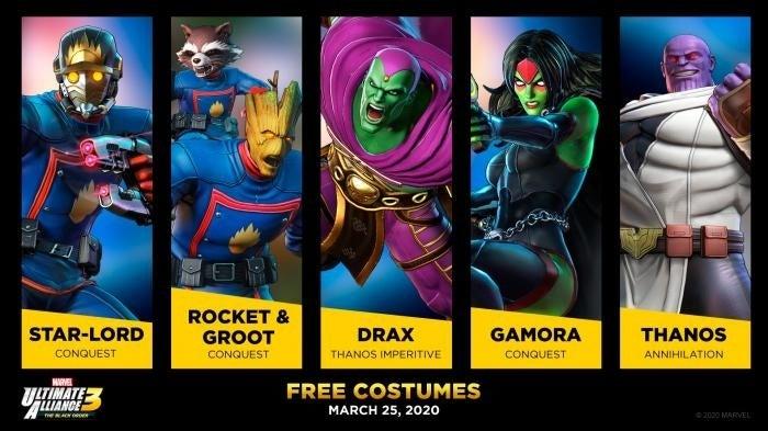 marvel ultimate alliance gotg