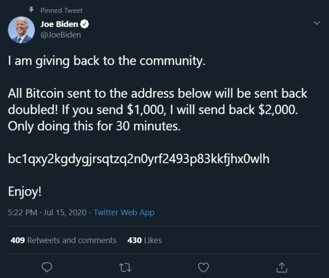 bitcoin scam twitter joe biden