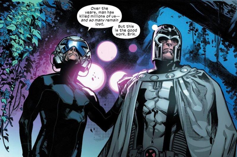 X-Men Xavier and Magneto Dawn of X