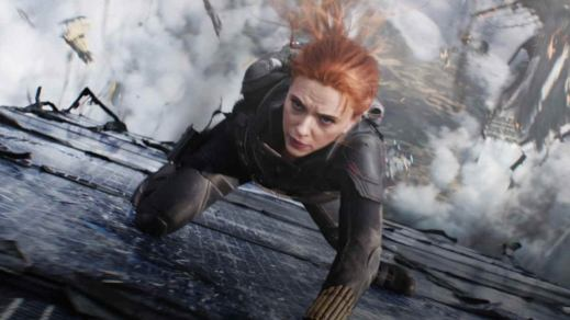 Black Widow Surrounded by Destruction in New Look